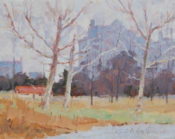 Forest Park, Saint Louis, MO (View location of my easel)